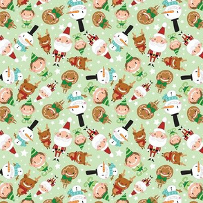 Christmas Crew - Green - Scattered - Small