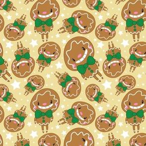 Christmas Crew - Gingerbread Man - Yellow - Medium
