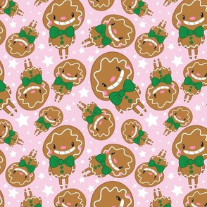 Christmas Crew - Gingerbread Man - Pink - Medium