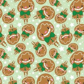 Christmas Crew - Gingerbread Man - Green - Medium