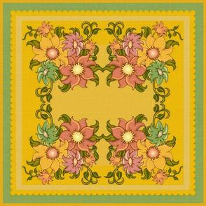 """18"""" Floral Throw pillow top"""