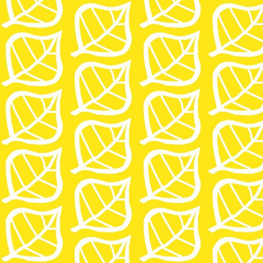 Leaf white on bright yellow