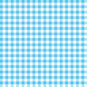 April sky blue gingham