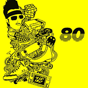 Things of the 80s- yellow and black