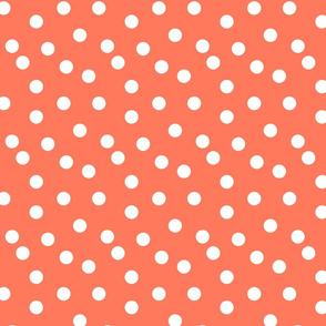 Polka Dot - Carrot Orange