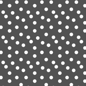 Polka Dots - Charcoal by Andrea Lauren