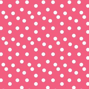 dot // pink fabric cute dots polka dot girls sweet dots