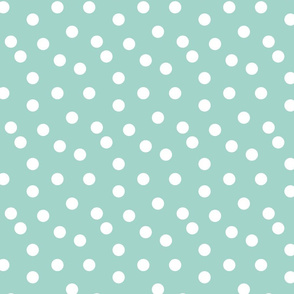 dots // mint dot spots polka dot baby nursery simple dot mint and white fabric for nursery