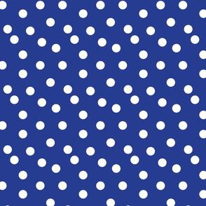 Polka Dots - Cobalt Blue by Andrea Lauren
