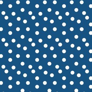 Polka Dots - Denim Blue by Andrea Lauren