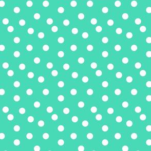 Polka Dots - Light Jade by Andrea Lauren