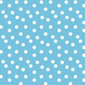 Polka Dots - Soft Blue by Andrea Lauren