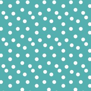 dots // turquoise aqua baby nursery dot dots polka dot simple dot spot fabric