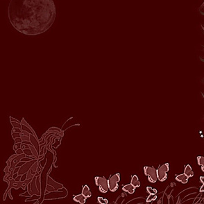 Butterfly Fairy marroon-panel