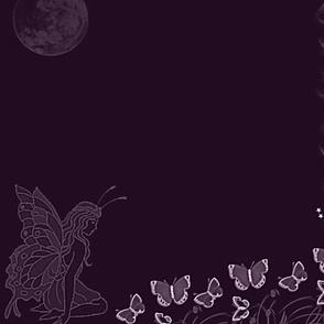 Butterfly Fairy plum-panel