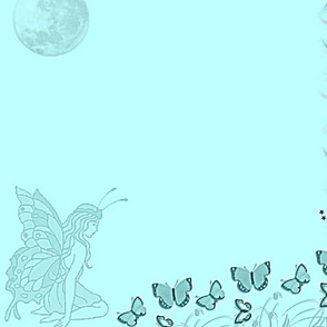 Butterfly Fairy baby blue-panel