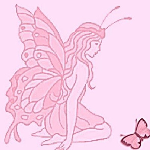 Butterfly Fairy pink-panel