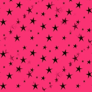Black Stars on Hot Pink