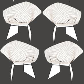 Bertoia Chairs / Charcoal