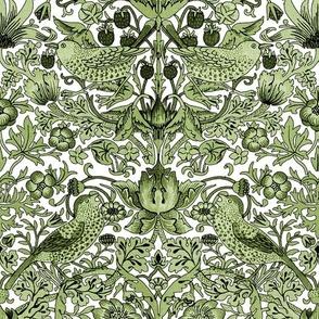 William Morris ~ Strawberry Thief ~ Jade
