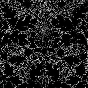 William Morris ~ St. JamesDamask ~ Black and White