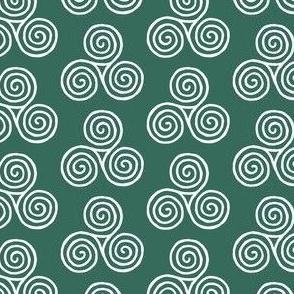 triskelion - pine green