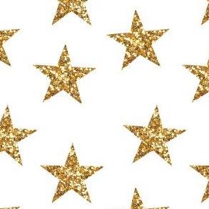Sparkling Stars in Gold