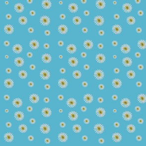 Summer Daisies Flower Print Fabric
