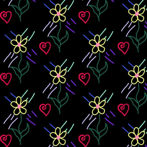 happy floral heart