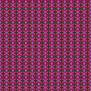 pink/magenta geo plaid