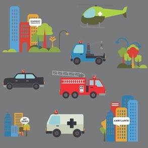 Rescue Vehicles Grey