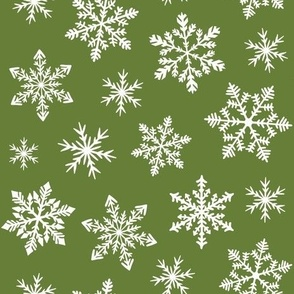 snowflakes - bright green