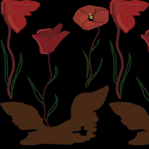 poppies - large