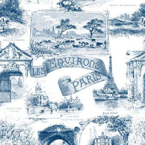 Les Environs de Paris ~ Toile de Jouy ~ Blue and White