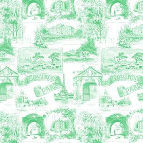 Les Environs de Paris ~ Toile de Jouy ~ Paris Green