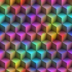 3D Squares ~ Rainbow