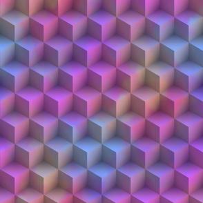 3D Squares ~ Tahitian Sunset