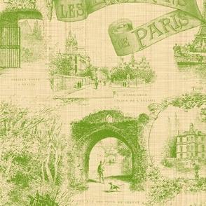 Les Environs de Paris ~ Toile de Jouy ~ Bracken on Trianon Cream ~ Linen Luxe