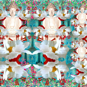 Buddha's Presence (aqua tone)
