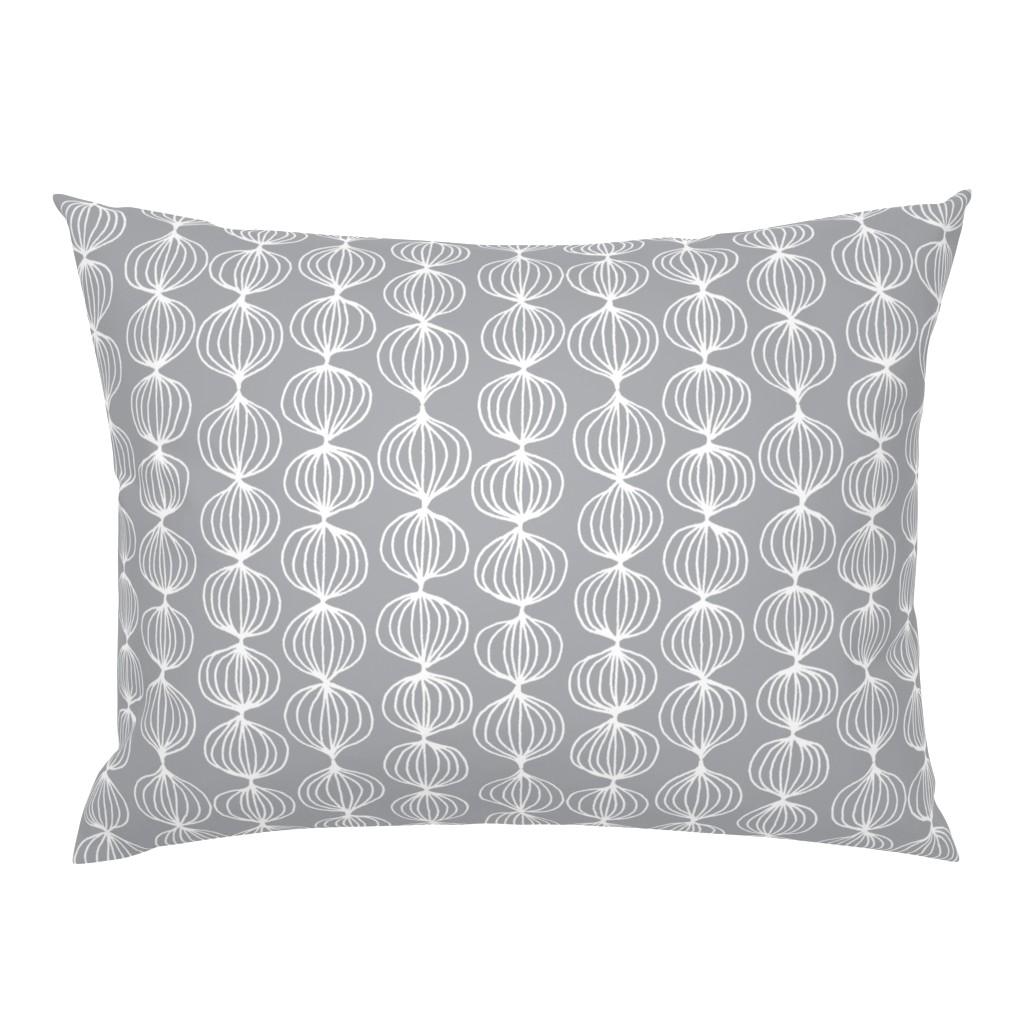 Campine Pillow Sham featuring mod ogee - grey by kristinnohe