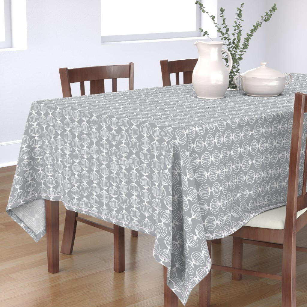 Bantam Rectangular Tablecloth featuring mod ogee - grey by kristinnohe