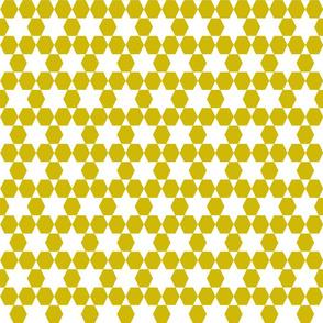 Hexagons  - Golden by Andrea Lauren