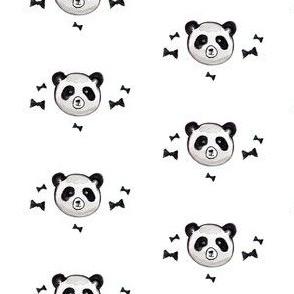 pandas with bowties