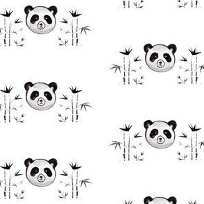 panda with her bamboo