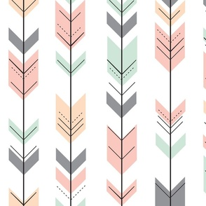 Fletching Arrows // Pink,Grey,Mint,Peach