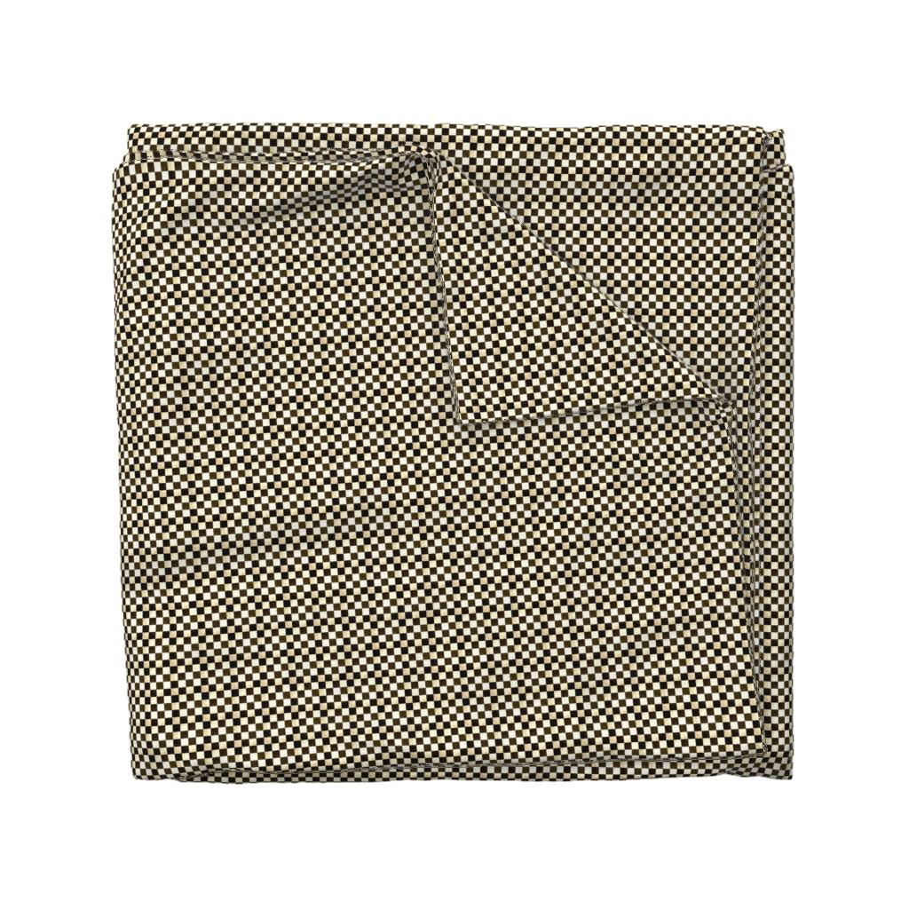 Wyandotte Duvet Cover featuring tarnished_checks by karenharveycox