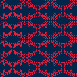 Navy Love in Red-small/Scroll