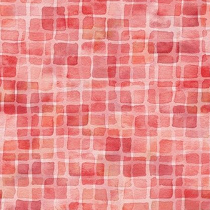 double watercolor squares in maple red