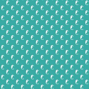 Seahorses on Turquoise
