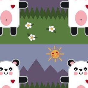 panda bear sunshine